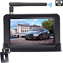 LeeKooLuu Wireless Backup Camera and 4.3'' Monitor System for Cars/ATV/SUVs/UTVs/Minivans IP69 Waterproof 6 LED Light Night Vision HD Color Rear/Front View Camera with Guide Lines On/Off