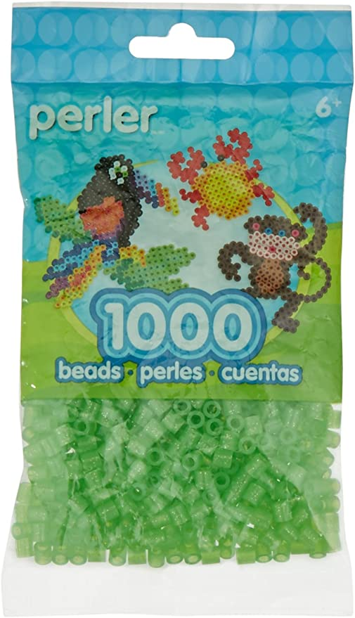 1000pcs Clear Glitter Perler Beads Fuse Beads for Crafts