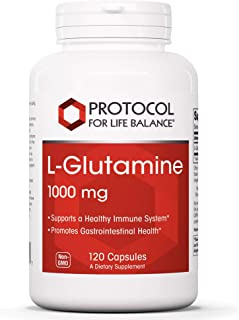 Protocol For Life Balance - L Glutamine 1000mg - Supports a Healthy Immune System and Gastro-Intestinal Healthy While Aidi...
