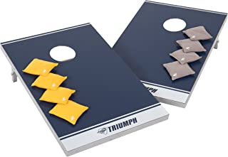 Triumph All-Pro Waterproof All Weather Aluminum Bean Bag Toss Includes Six Canvas Bean Bags and Carry Bag