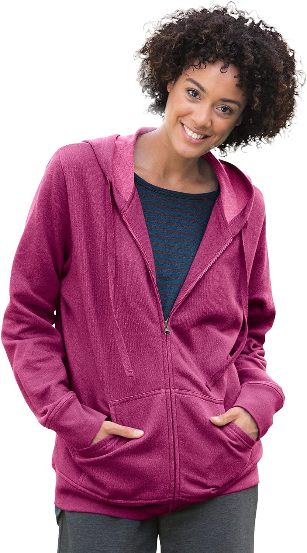 Woman Within Women's Plus Size Better Fleece Zip-Front Hoodie