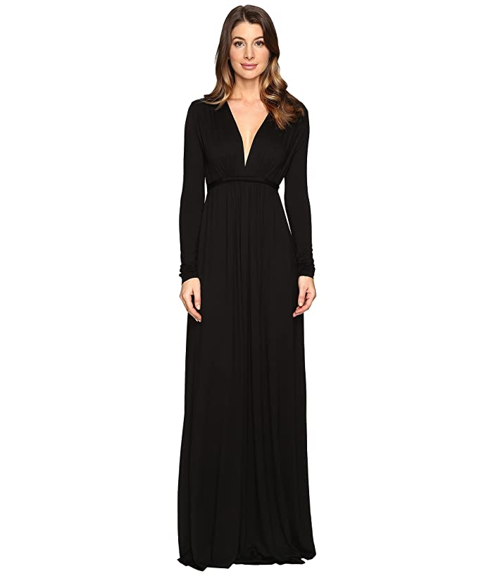 Rachel Pally Long Sleeve Full Length Caftan (Black) Women's Dress