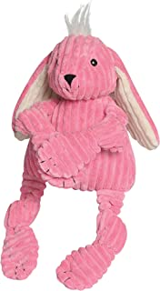 HuggleHounds Plush Corduroy Durable Squeaky Knottie Dog Toyfor Aggressive Chewers