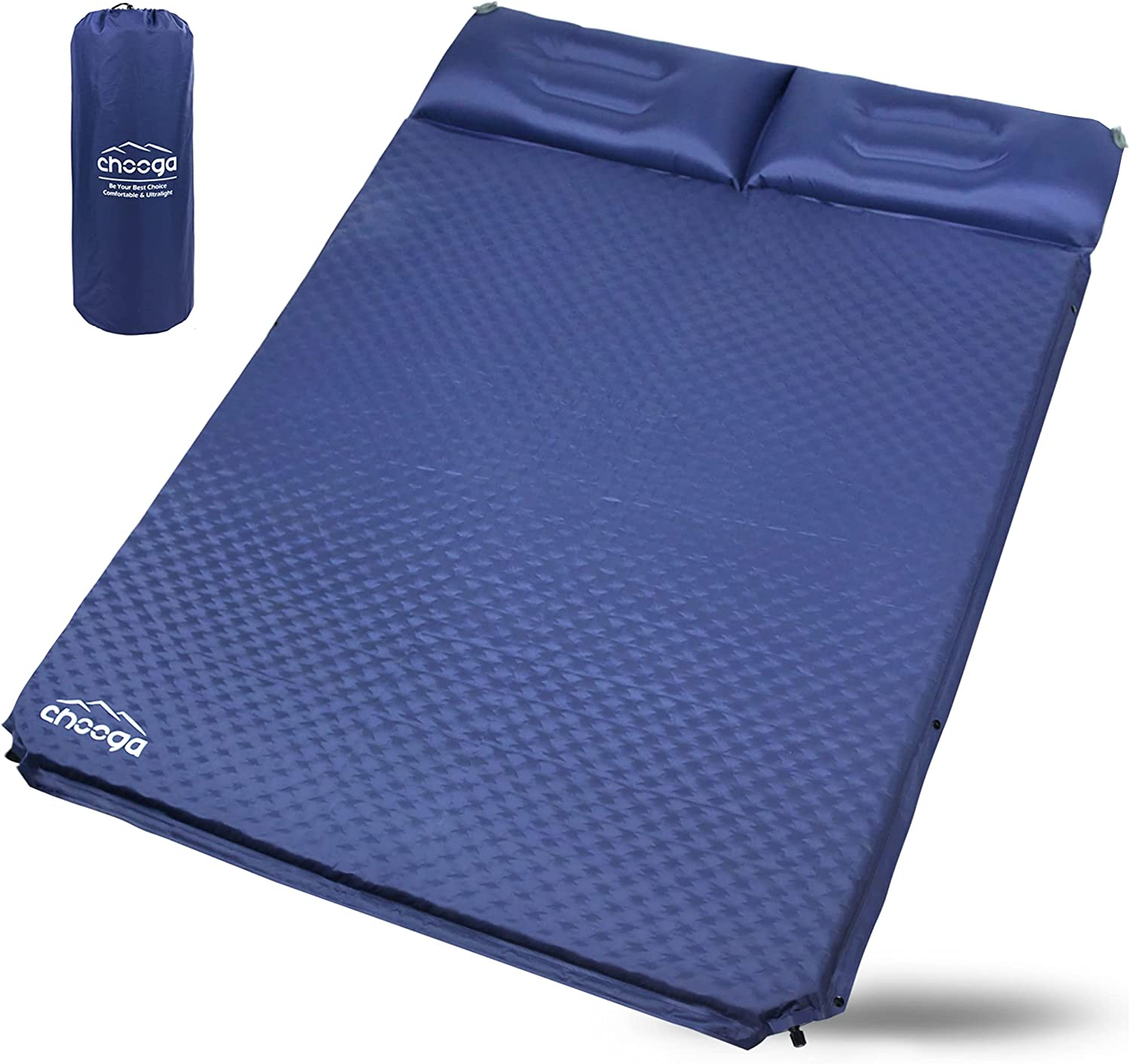 service Chooga Double Sleeping 5 ☆ very popular Pad for Camping 2 Person Self Comfortable