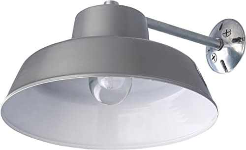 2021 Canarm BL14CWS All Weather 1-Bulb Ceiling or Wall Mount All Weather Light wholesale with Clear online sale Glass Globe, Grey outlet online sale