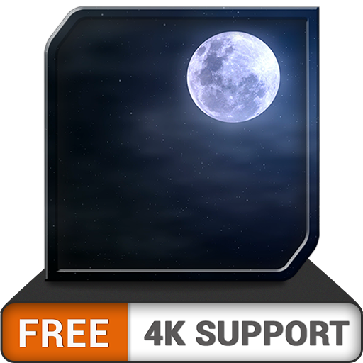 FREE Cloudy Moon HD - Romantic ambiance for your soulmate on your HDR 4K TV , 8K TV and fire devices as a wallpaper & theme for mediation & peace and for Christmas Holidays