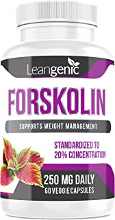 Leangenic Forskolin for Weight Management 60 Capsules 250 mg (1 Bottle)
