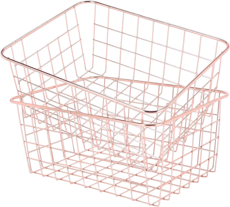 Adanse Rose Brand new outlet Gold 2 Pack Wire Kit Basket Decor Crafts Storage Set