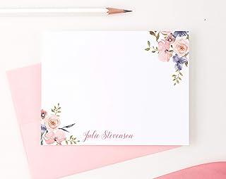 ست لوازم التحریر گلهای شخصی ، لوازم التحریر برای خانمها ، کارتهای تشکر شخصی ، کارتهای یادداشت شخصی ، انتخاب رنگ و مقدار شما