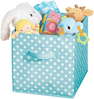 mDesign box de rangement en forme de dé pour chambre à coucher et d'enfant – bac de rangement en tissu avec poignée – boit...