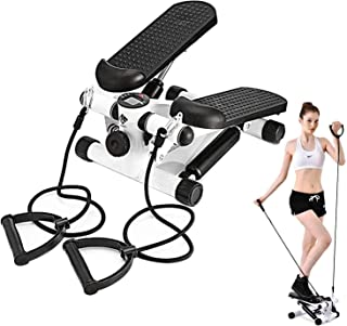 JORAGO Exercise Stepper Including Resistance Bands, Mini Aerobic Stepper Machine with Display