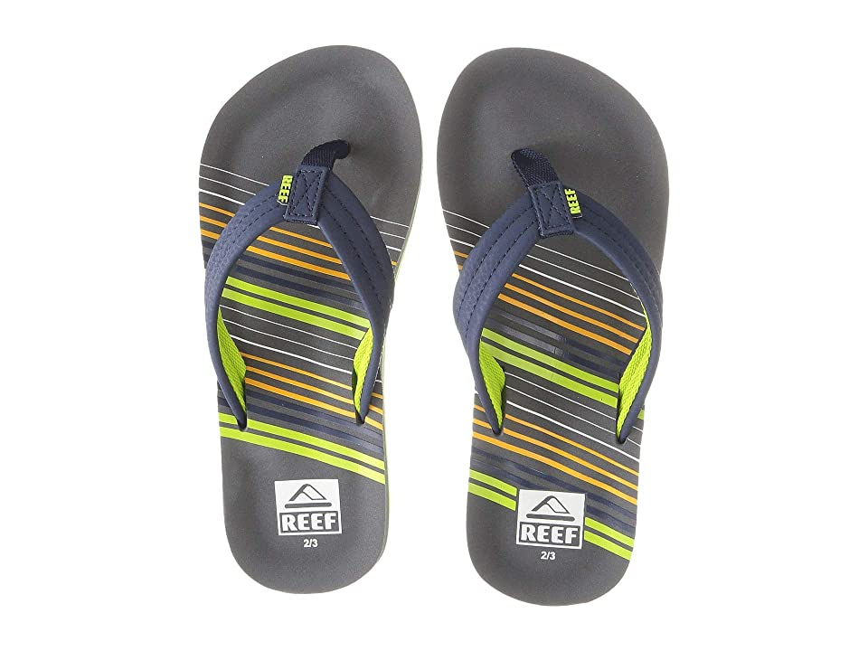 Reef Kids Ahi (Little Kid/Big Kid) (Stripe Green) Boys Shoes