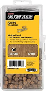 Starborn Pro Plug System Wood Deck Kit with 100 Ipe Plugs, 2-1/2