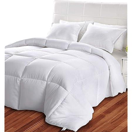 Utopia Bedding Piumone Piumino - Primavera/Estivo Piumino - 100% Microfibra in Fibra Cava - (Bianco 230 x 220 cm)