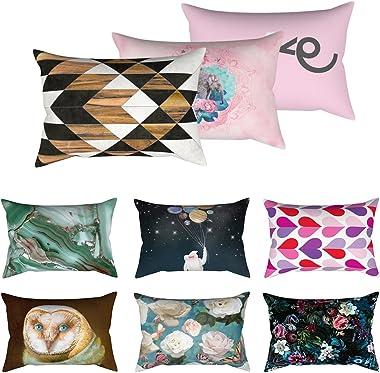 Anniston Pillowcase, 30x50cm Decorative Rectangle Pillow Case Bird Flower Heart Sky Cushion Cover Square Throw Pillow Covers