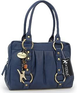 Catwalk Collection Handbags - Women's Leather Top Handle/Shoulder Bag - MEGAN