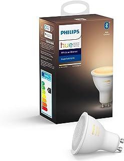 Philips Hue Spot 1-Pack - GU10 - Duurzame LED Verlichting - Warm tot Koelwit Licht - Dimbaar - Verbind met Bluetooth of Hu...