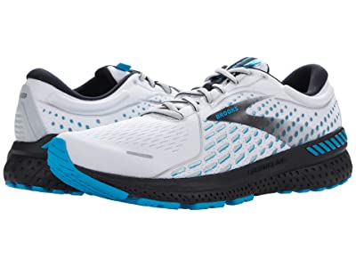 Brooks Adrenaline GTS 21 (White/Grey/Atomic Blue) Men