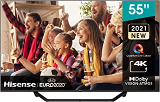 Hisense 55A7GE QLEd series 55-inch 4k UHD Dolby Vision HDR Smart TV 60HZ Refresh Rate with-Youtube, Netflix, Freeview Pla...