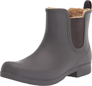 Chooka Women's Waterproof Plush Chelsea Bootie Rain Boot