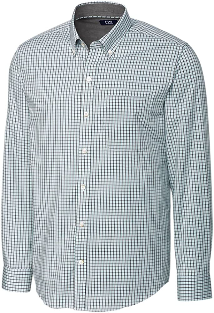 Cutter Buck Men's 70% OFF Outlet Small Plaid and Sales Easy Down Check Care Button