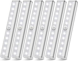 Motion Sensor Closet Lights, 10 Led Battery Powered Lights Led Under Cabinet Lighting Wireless Under Counter Light, Stick ...