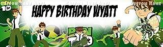 Personalized Cartoon Network Ben Ten Banner Birthday Poster Custom Name Painting Wall Art Decor