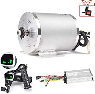 Electric Brushless DC Motor Complete Kit, 48V 2000W 4300RPM High Speed Motor, With 33A 15 Mosfet Controller, Battery Display LCD Throttle, Electric Scooter Bicycle Motorcycle Mid Drive Motor, DIY Part