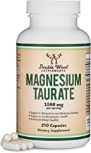 Magnesium Taurate Supplement For Sleep, Calming, and Cardiovascular Support (500mg, 210 Vegan Capsules) Made in USA, by Do...