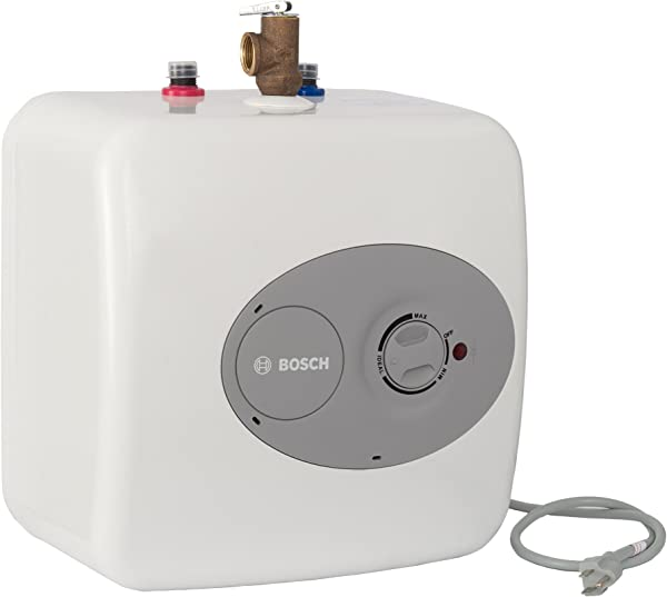 Bosch Electric Mini Tank Water Heater Tronic 3000 T 2 5 Gallon ES2 5 Eliminate Time For Hot Water Shelf Wall Or Floor Mounted