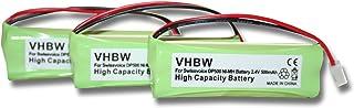 vhbw 3 x NI MH Akku 500mAh (2,4 V) passend für Medion MD82622, MD83001, MD83022, MD83091, MD83166, MD83274, MD83542, u.a.