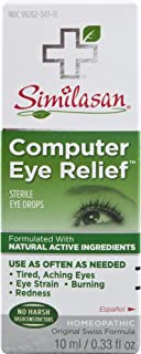 Similasan Computer Eye Relief Eye Drops 0.33 Fluid Ounce, for Temporary Relief from Tired Eyes, Aching Eyes, Eye Strain, B...