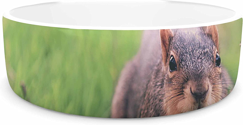 KESS InHouse Angie Turner Squirrel Brown Animals Pet Bowl, 7