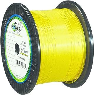 PowerPro PowerPro Hi Viz Yellow 10lb Test 1500yd Spool #2100101500Y, Multicolor