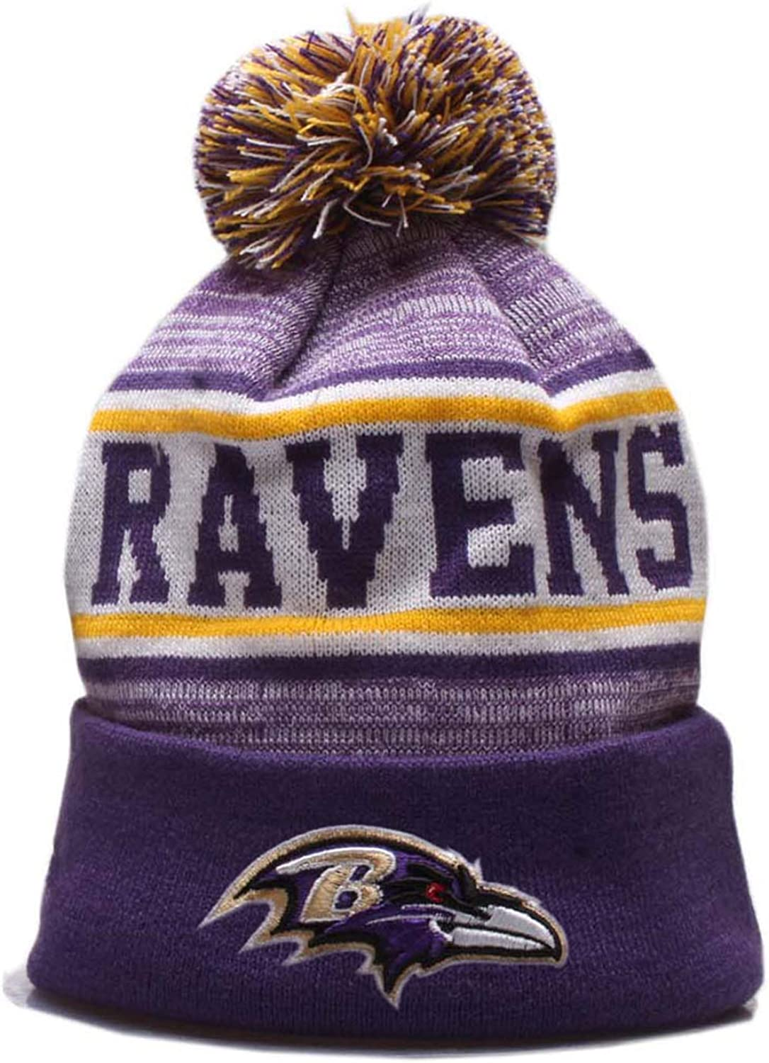 2020 Sports Fans Winter Beanie Knit Hat Knit Cap Cuffed Hat with Pom Embroidery