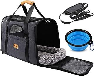 Pet Travel Carrier Bag, Morpilot Portable Pet Bag - Folding Fabric Pet Carrier, Travel Carrier Bag for Dogs or Cats, Pet C...