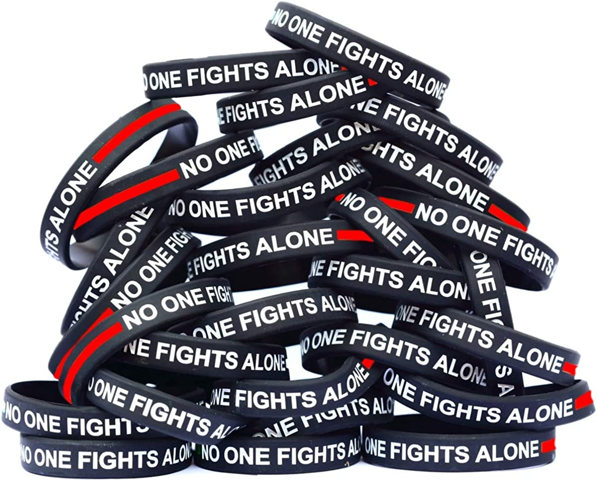 SayitBands Fashionable 100 of Thin RED Line Bracelets Alone One Fights 4 years warranty No