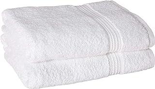 BC BARE COTTON 851-101-02 Bath towel, Set of 2, White 2 Count