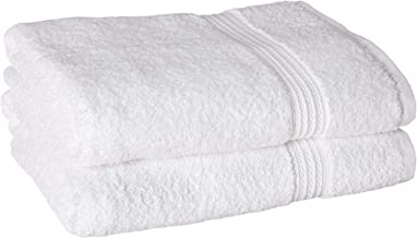 BC BARE COTTON Luxury Hotel & Spa Towel 100% Cotton Eco Bath Towels - White - (27x54 inches) - Set of 2