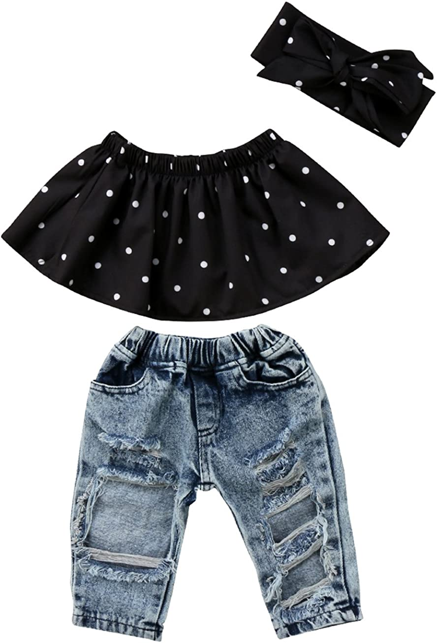 Newborn Baby Girls Polka Dots Max 88% OFF Off Tops Shoulder Limited time sale Blouse Rippe and