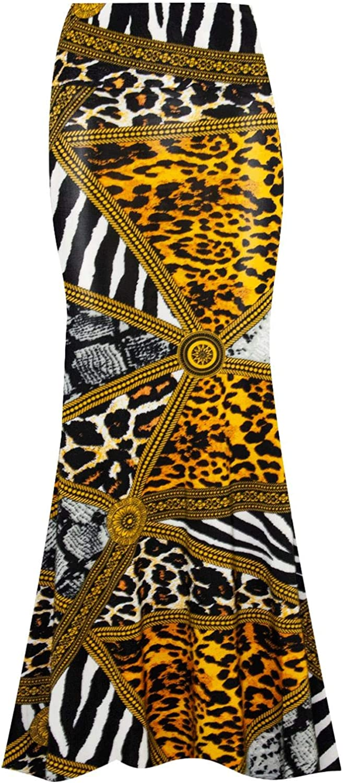 Be Jealous Womens Floral Printed High Waist Swing Maxi Skirt