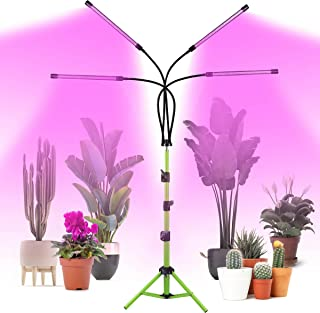 Grow Light with Stand,COOLAPA 4 Head Grow Light for Indoor Plants,Smart Full Spectrum Grow Lamp with Timer for Seedling, A...