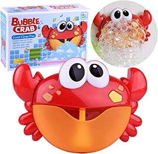 Kingtree Baby Bath Bubble Toy Bubble Crab Toys with 12 Pure Music, Automatic Bubble Blower Machine for Toddlers Shower Cute Bubble Spout Maker Toy for Kids of All Ages, Gift Box Package
