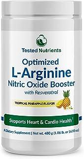 Optimized L-Arginine 5200mg Nitric Oxide Supplement for Heart & Cardiovascular Health - L-arginine L-citrulline Complex with Resveratrol, CoQ10, Vitamins, Minerals and Trimethylglycine Powder.