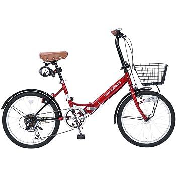 My Pallas(マイパラス) 折畳自転車20インチ・シマノ6段ギア・LEDオートライト・カゴ付・カギ付・低床フレーム M-204MERRY
