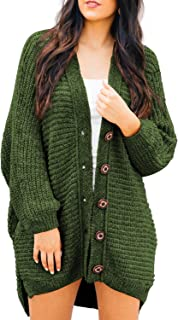 Women's Casual Open Front Cable Knit Cardigan Long Sleeve Sweater Coat with Pocket