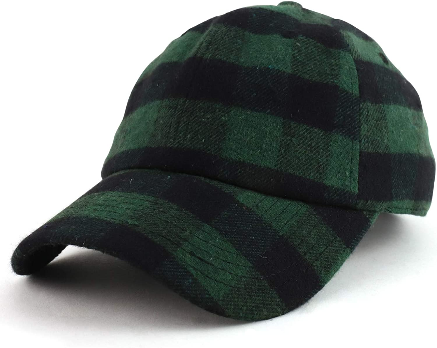 Armycrew Plaid Checkered Structured Adjustable Baseball Cap