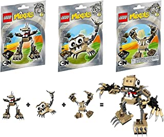 LEGO, Mixels Series 3 Bundle Set of Spikels, Footi (41521), Scorpi (41522) and Hoogi (41523)