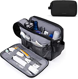 Toiletry Bag for Men, BAGSMART Travel Toiletry Organizer Dopp Kit Water-resistant Shaving Bag for Toiletries Accessories, ...