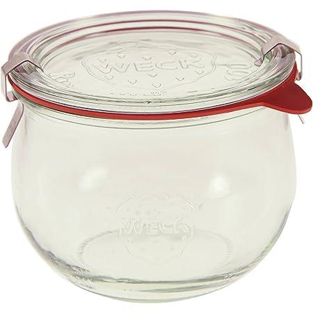 Weck 744 1/2L Tulip Jar Set of Six - 16.9 Ounce